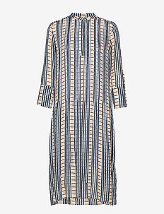 Elm shirt dress aop 9695 - INCA CHECK