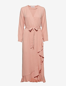 Limon l wrap dress 9941 - ROSE TAN