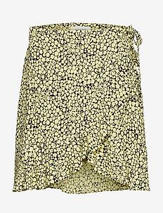 Limon s wrap skirt aop 6515 - YELLOW BUTTERCUP