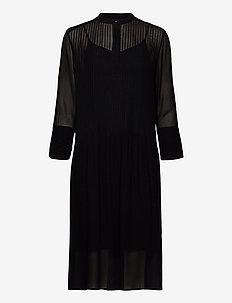 Elm shirt dress 9695 - midi dresses - black