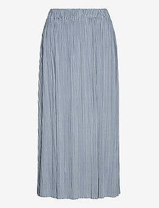 Uma skirt 10167 - midinederdele - dusty blue
