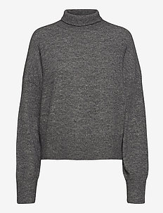 Nola t-n 7355 - turtlenecks - dark grey mel.