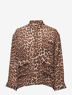 Ilona shirt aop 6434 - LEOPARD