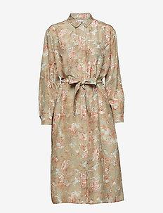 Cora shirt dress aop 10756 - CORAL REEF
