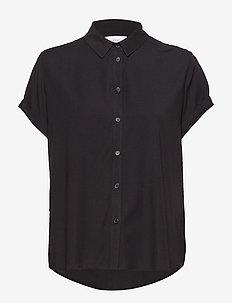 Majan ss shirt 9942 - blouses à manches courtes - black