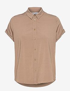 Majan ss shirt 9942 - kortærmede skjorter - caribou