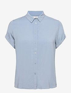 Majan ss shirt 9942 - kortærmede skjorter - dusty blue