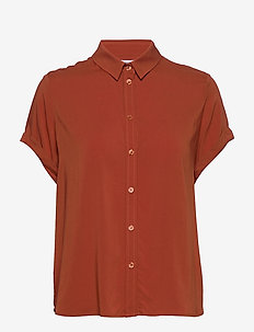 Majan ss shirt 9942 - kortärmade blusar - picante