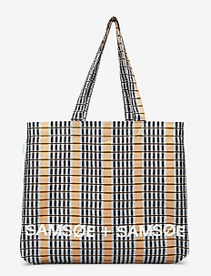 Canvas shopper aop 10833 - INCA CHECK