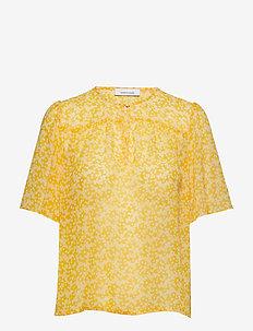 Imola blouse ss aop 10842 - ARANCIA