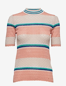 Rho t-shirt 10978 - stickade toppar & t-shirts - rose tan st