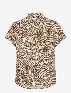 Majan ss shirt aop 9942 - overhemden met korte mouwen - mountain zebra