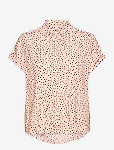Majan ss shirt aop 9942 - kortærmede skjorter - pearl drops