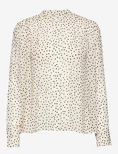 Elmy shirt aop 9695 - langærmede bluser - black drops