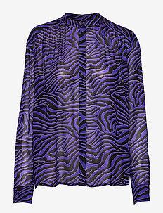 Elmy shirt aop 9695 - blouses med lange mouwen - deep moonscape