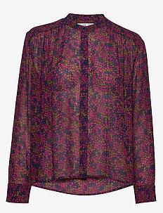 Elmy shirt aop 9695 - langärmlige blusen - moonlight flower