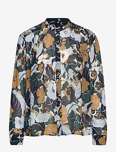 Elmy shirt aop 9695 - blouses à manches longues - night meadow
