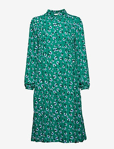 Musa shirt dress aop 6891 - GREEN CARNATION
