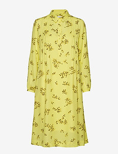 Musa shirt dress aop 6891 - YELLOW BREEZE