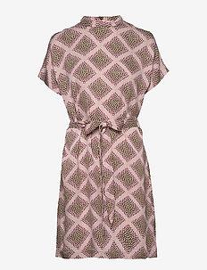 Blumea short dress aop 8325 - korte kjoler - foulard