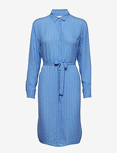 Stella shirt dress aop 8083 - BLUE STARRY