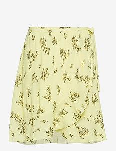 Limon s wrap skirt aop 9699 - YELLOW BREEZE