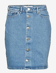 Pamela button skirt 10997 - BRIGHT BLUE