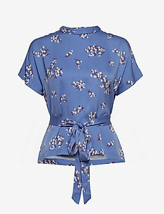 Blumea blouse ss aop 8325 - BLUE BREEZE