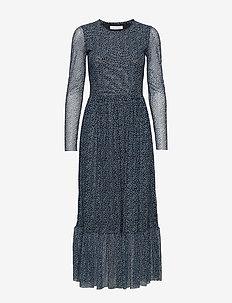 Lori dress aop 8211 - BLUE TWIGGY