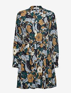 Monique shirt dress aop 8083 - NIGHT MEADOW