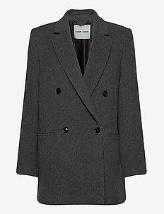 Tenna jacket 11104 - ullkappor - grey mel.