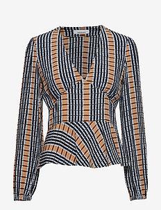 Cindy blouse aop 10056 - INCA CHECK