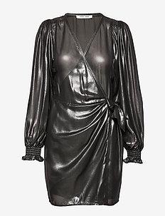 Hanny wrap dress 11345 - BLACK