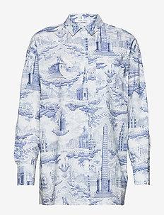 Loraine shirt aop 11332 - pitkähihaiset paidat - city of towers