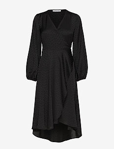 Veneta dress 11459 - robes portefeuille - black