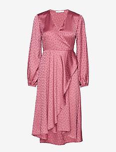 Veneta dress 11459 - robes portefeuille - heather rose