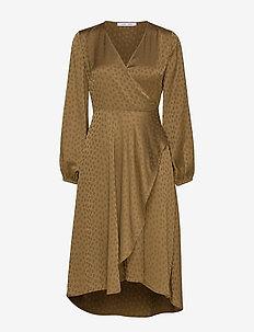 Veneta dress 11459 - robes portefeuille - khaki