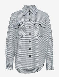 Dicte overshirt 11477 - långärmade skjortor - tourmaline ch.