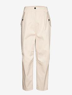 Ivalu trousers 11404 - bukser med lige ben - warm white