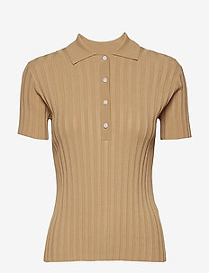 Jette polo 11441 - getrickte tops & t-shirts - croissant