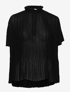 Lady ss blouse 6621 - short-sleeved blouses - black