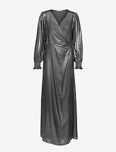 Hanny l wrap dress 11345 - omlottklänning - black