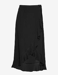 Limon l wrap skirt 10458 - midi kjolar - black
