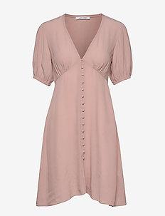 Petunia short dress 10056 - midi dresses - misty rose