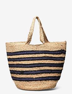 Beach bag L 11507 - shoppere - nature blue