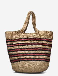 Beach bag L 11507 - shoppere - nature poppy