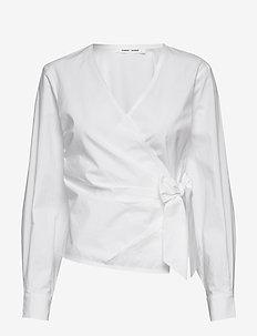 Althea blouse 11055 - långärmade blusar - white
