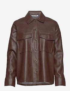 Shereen overshirt 11335 - långärmade skjortor - mole