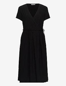 Fiona dress 12686 - slå-om-kjoler - black