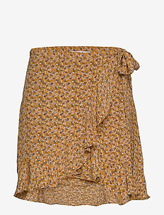 Limon s wrap skirt aop 10867 - jupes courtes - blossom
